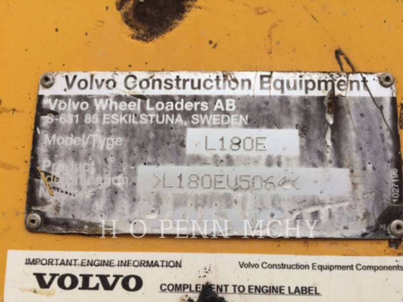VOLVO WHEEL LOADERS/INTEGRATED TOOLCARRIERS L180 equipment  photo 5