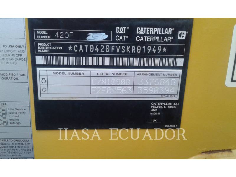 CATERPILLAR TERNE 420FST equipment  photo 1