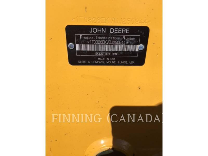 JOHN DEERE SKID STEER LOADERS 326E equipment  photo 8