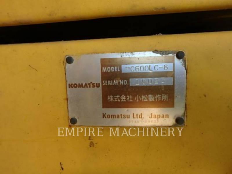 KOMATSU LTD. TRACK EXCAVATORS PC600LC equipment  photo 9