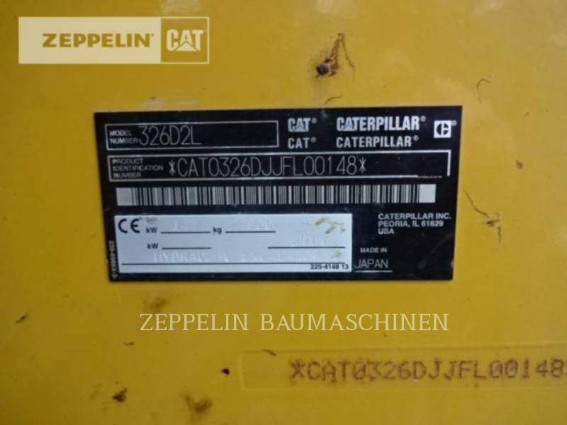 CATERPILLAR KETTEN-HYDRAULIKBAGGER 326D2 equipment  photo 2