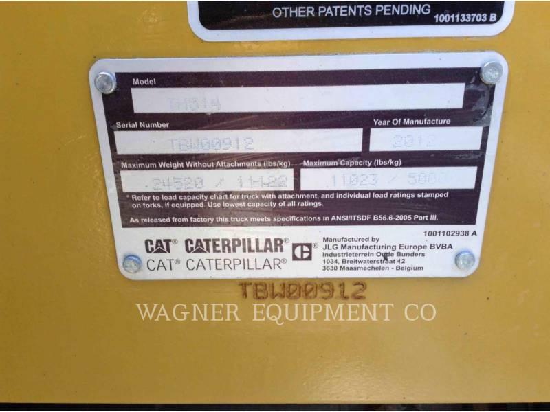 CATERPILLAR TELEHANDLER TH514 equipment  photo 7