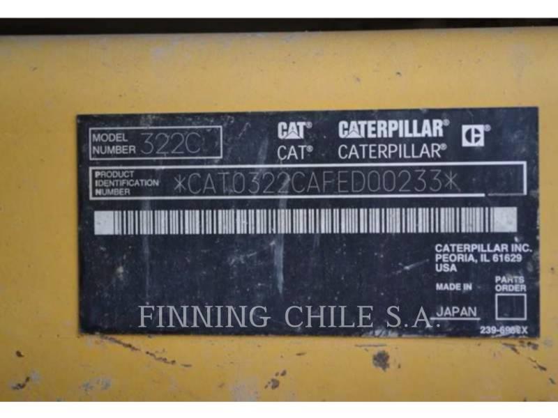 CATERPILLAR TRACK EXCAVATORS 322CL equipment  photo 9