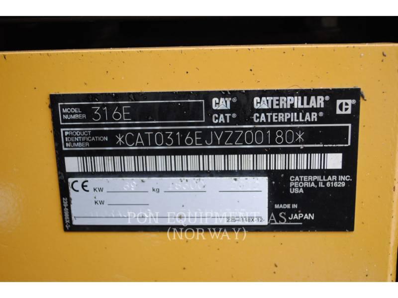 CATERPILLAR ESCAVADEIRAS 316EL equipment  photo 6