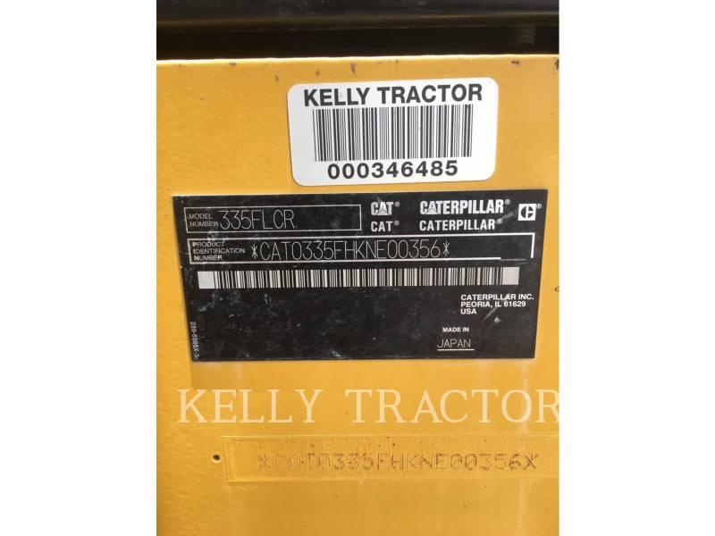 CATERPILLAR TRACK EXCAVATORS 335FLCR equipment  photo 18