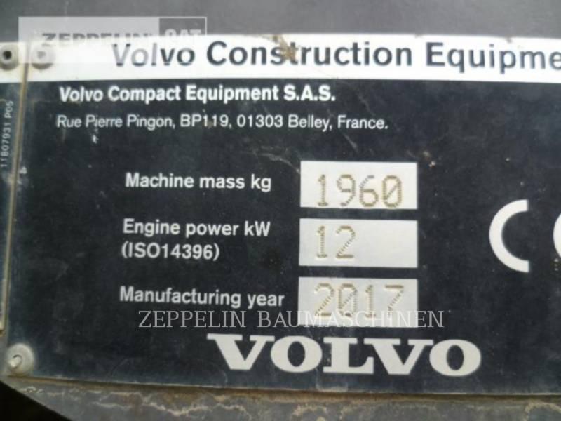 VOLVO CONSTRUCTION EQUIPMENT ESCAVADEIRAS EC20D equipment  photo 6