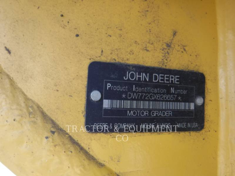 JOHN DEERE モータグレーダ 772G equipment  photo 2