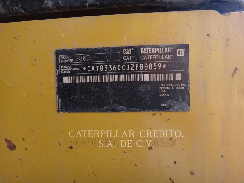 CATERPILLAR EXCAVADORAS DE CADENAS 336D L  equipment  photo 2