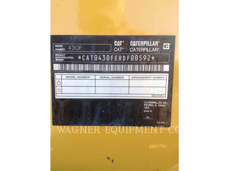 CATERPILLAR RETROESCAVADEIRAS 430F 4WDE equipment  photo 5