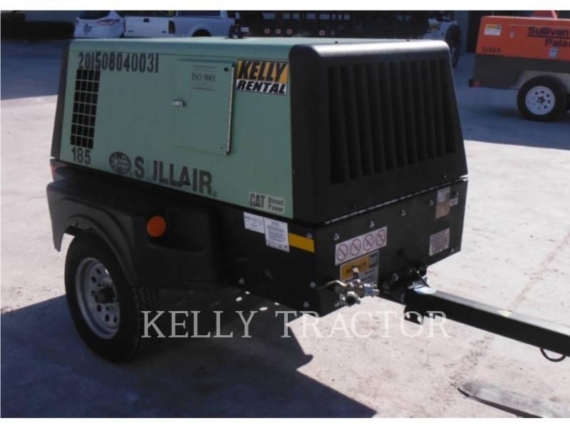 SULLAIR AIR COMPRESSOR 185DPQ equipment  photo 4