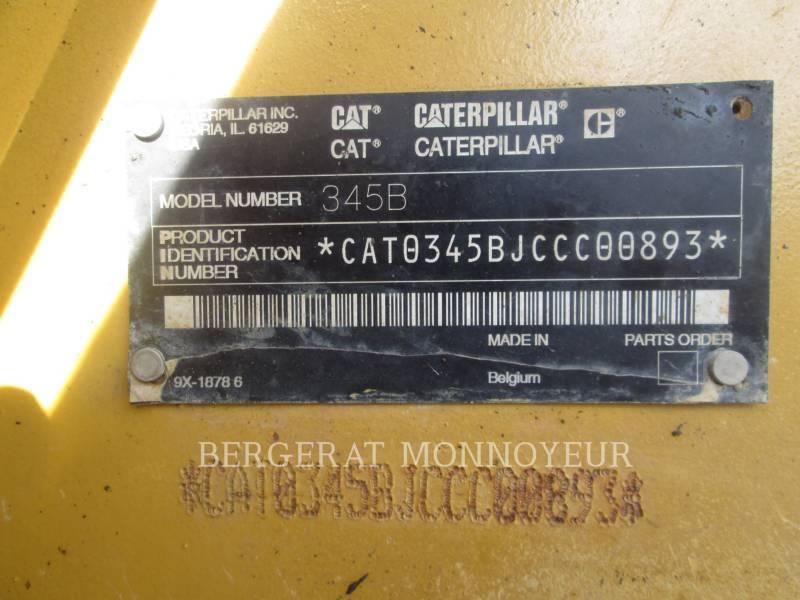 CATERPILLAR TRACK EXCAVATORS 345B II equipment  photo 13