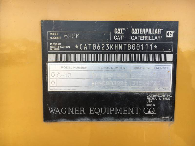 CATERPILLAR MOTOESCREPAS 623K equipment  photo 5