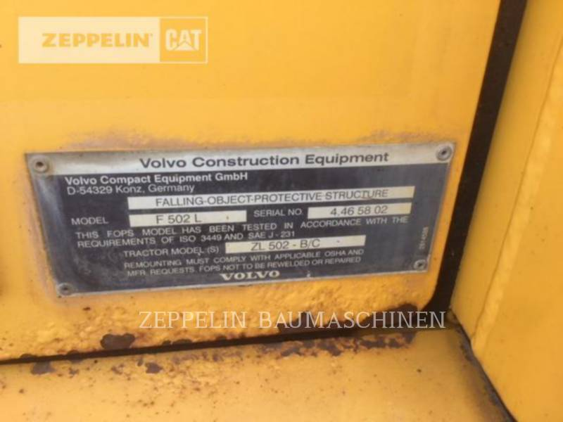 VOLVO CONSTRUCTION EQUIPMENT WHEEL LOADERS/INTEGRATED TOOLCARRIERS 502 equipment  photo 18