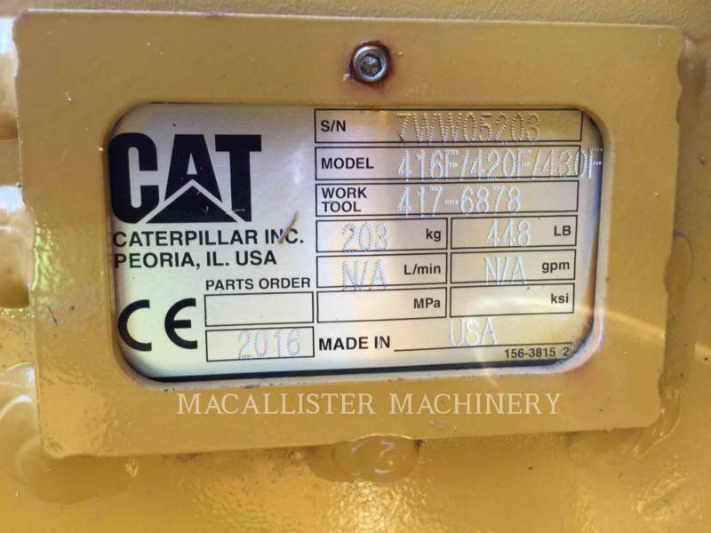 CATERPILLAR BAGGERLADER 420F2ST equipment  photo 24