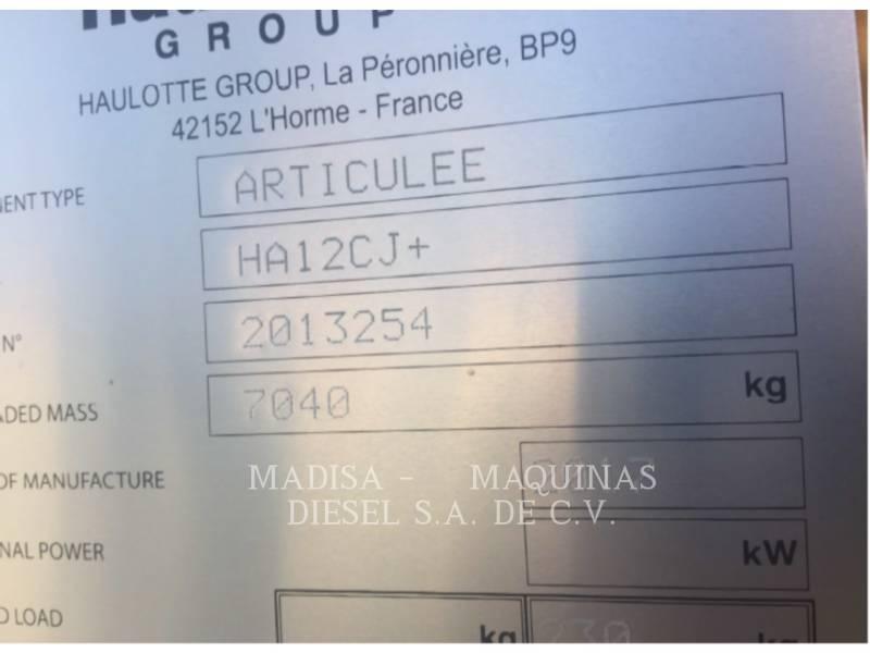 HAULOTTE LIFT - BOOM HA12 CJ equipment  photo 5
