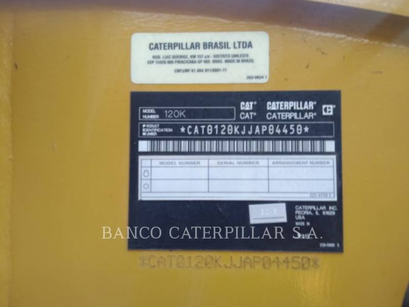 CATERPILLAR MOTOR GRADERS 120K equipment  photo 6