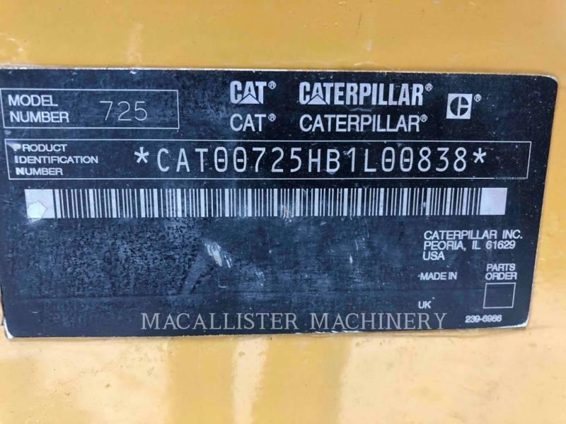 CATERPILLAR KNICKGELENKTE MULDENKIPPER 725 equipment  photo 9