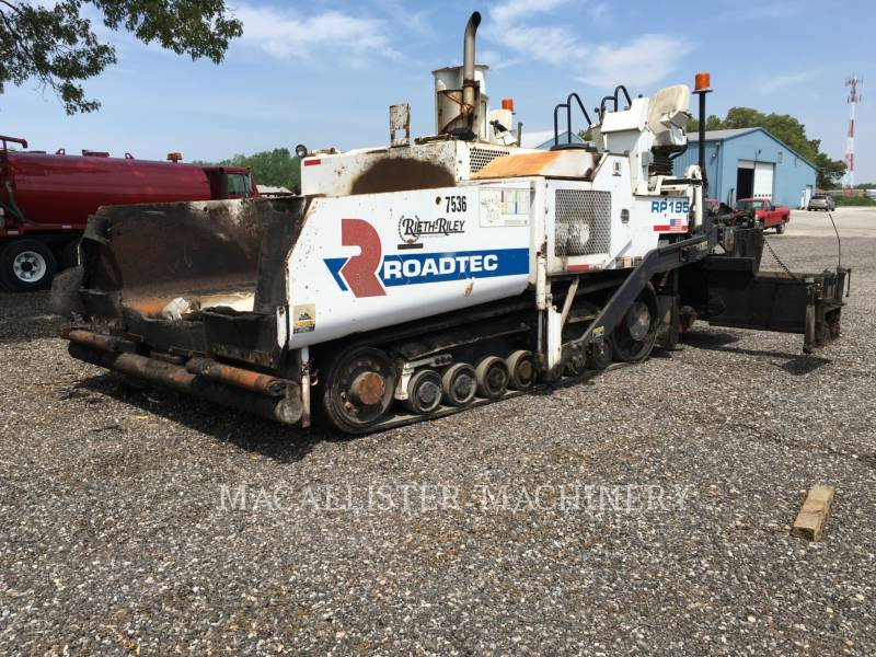 ROADTEC ASPHALT PAVERS RP195 equipment  photo 1