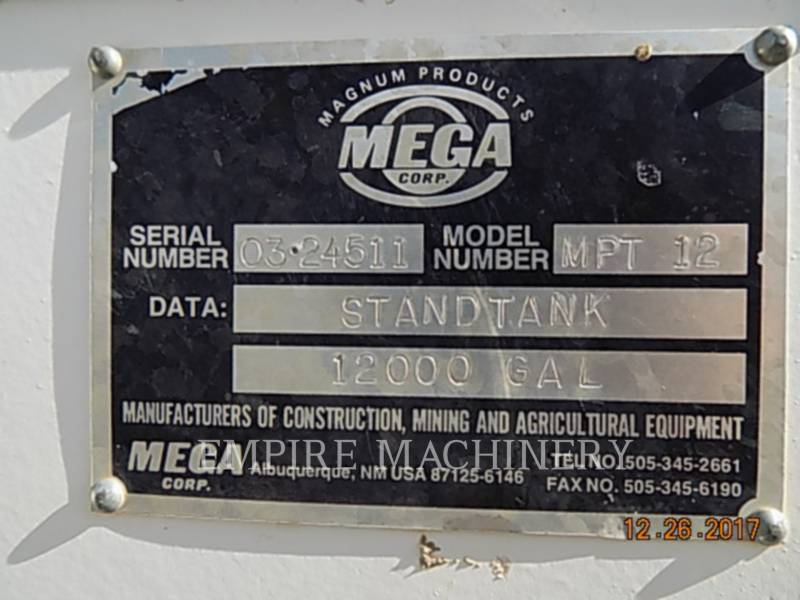 MEGA WASSERTANKS MPT-12 equipment  photo 5
