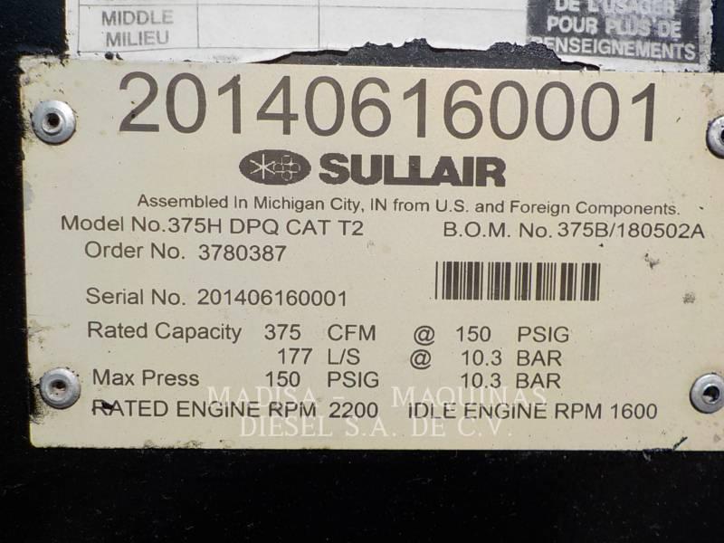 SULLAIR AIR COMPRESSOR (OBS) 375HDPQ-CA equipment  photo 3