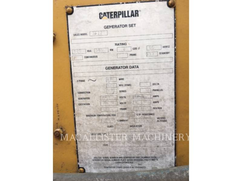 CATERPILLAR GRUPPI ELETTROGENI FISSI 3412 equipment  photo 11