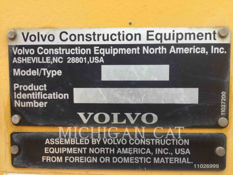 VOLVO CONSTRUCTION EQUIPMENT WHEEL LOADERS/INTEGRATED TOOLCARRIERS L90D equipment  photo 8