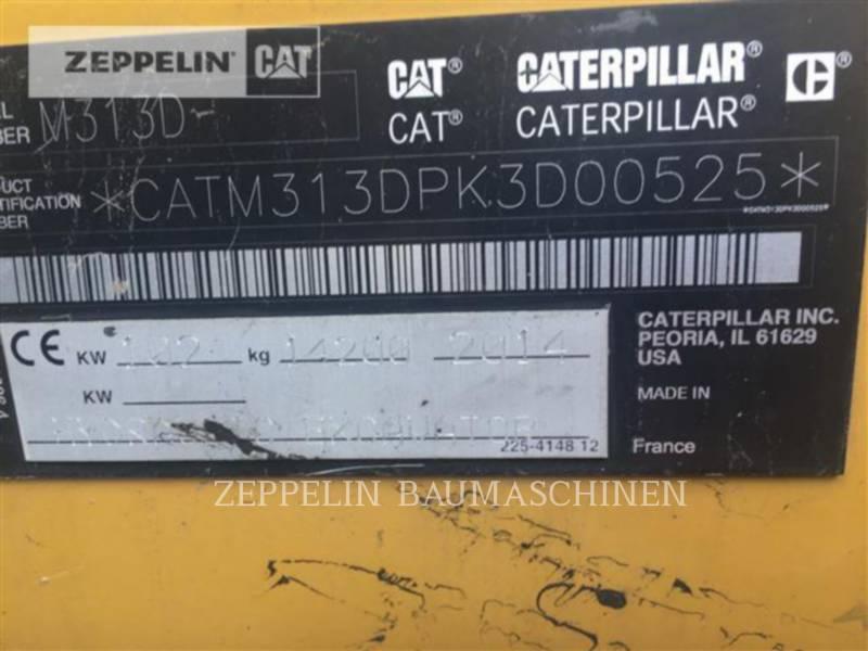 CATERPILLAR PELLES SUR PNEUS M313D equipment  photo 22