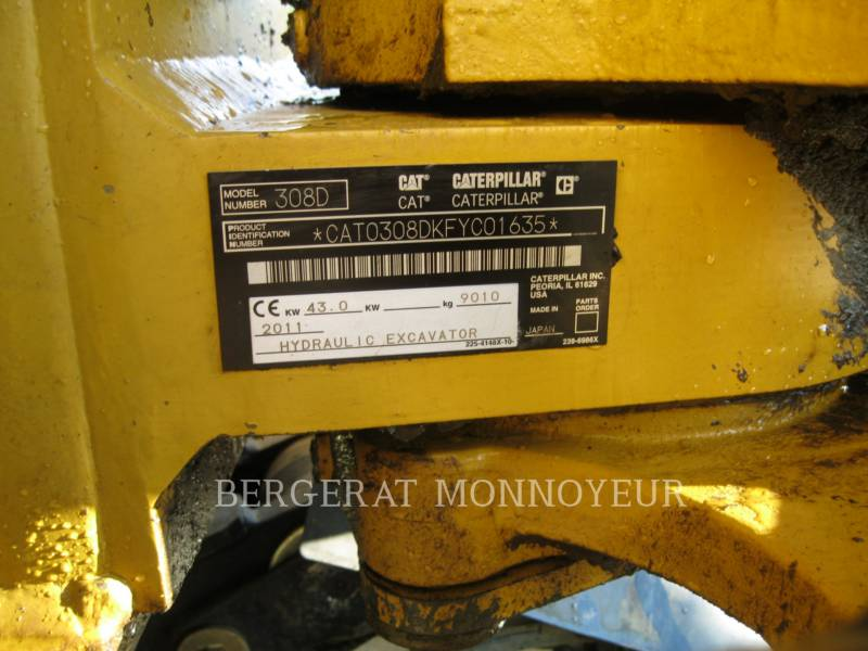 CATERPILLAR PELLES SUR CHAINES 308D equipment  photo 10