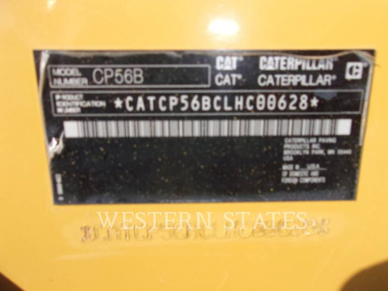 CATERPILLAR VIBRATORY SINGLE DRUM SMOOTH CP56B equipment  photo 16