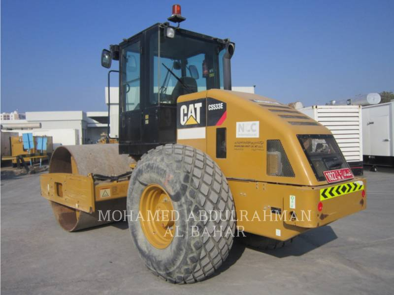 CATERPILLAR EINZELVIBRATIONSWALZE, GLATTBANDAGE CS 533 E equipment  photo 3