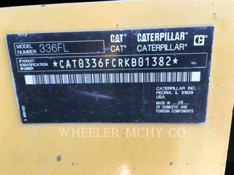 CATERPILLAR ESCAVATORI CINGOLATI 336F L CF equipment  photo 8