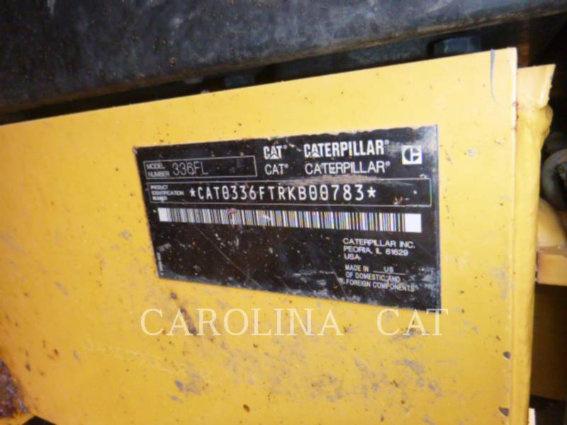 CATERPILLAR トラック油圧ショベル 336FL equipment  photo 8