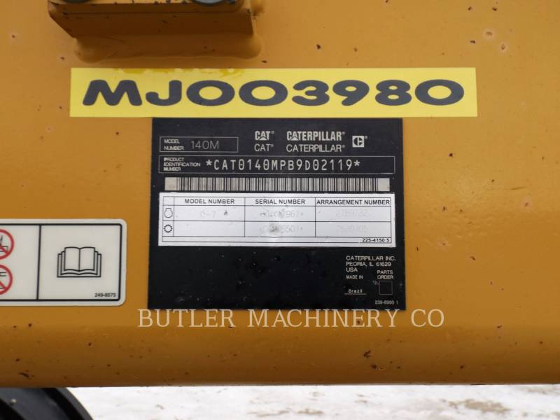 CATERPILLAR MOTOR GRADERS 140 M VHP PLUS equipment  photo 2