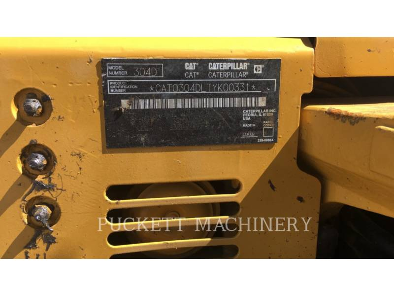 CATERPILLAR ESCAVATORI CINGOLATI 304DCR equipment  photo 15
