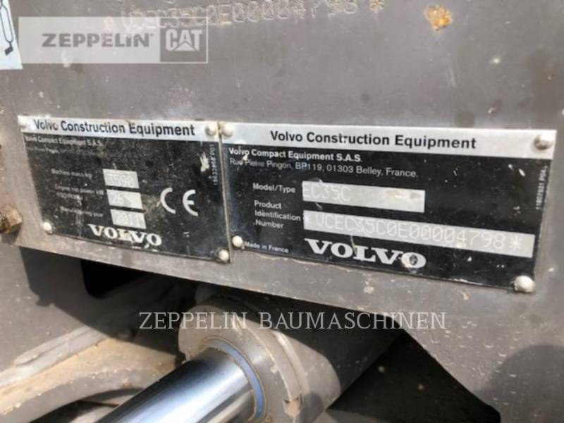 VOLVO CONSTRUCTION EQUIPMENT KETTEN-HYDRAULIKBAGGER EC35C equipment  photo 9