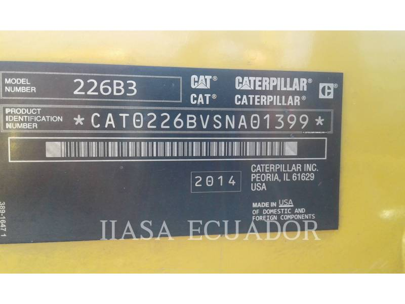 CATERPILLAR MINICARGADORAS 226B3LRC equipment  photo 4