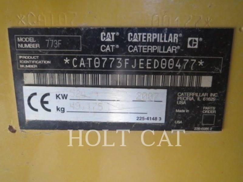 CATERPILLAR TOMBEREAUX DE CHANTIER 773F equipment  photo 5