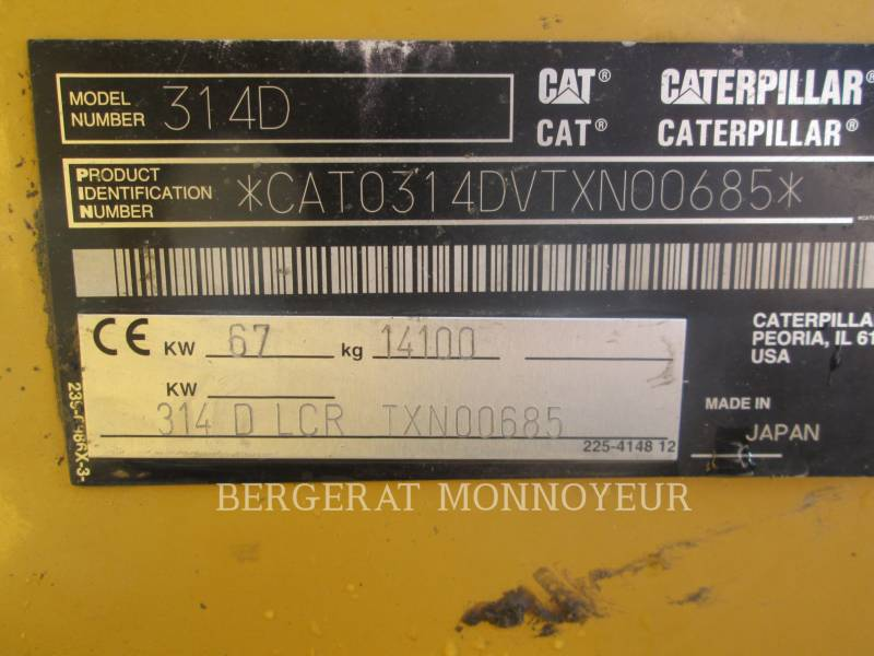 CATERPILLAR PELLES SUR CHAINES 314D equipment  photo 9