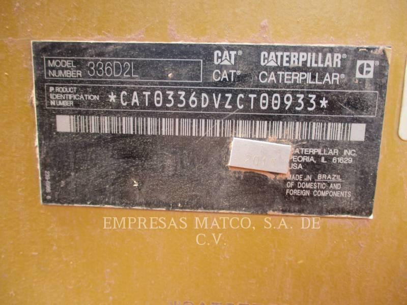 CATERPILLAR ESCAVATORI CINGOLATI 336D2L equipment  photo 8