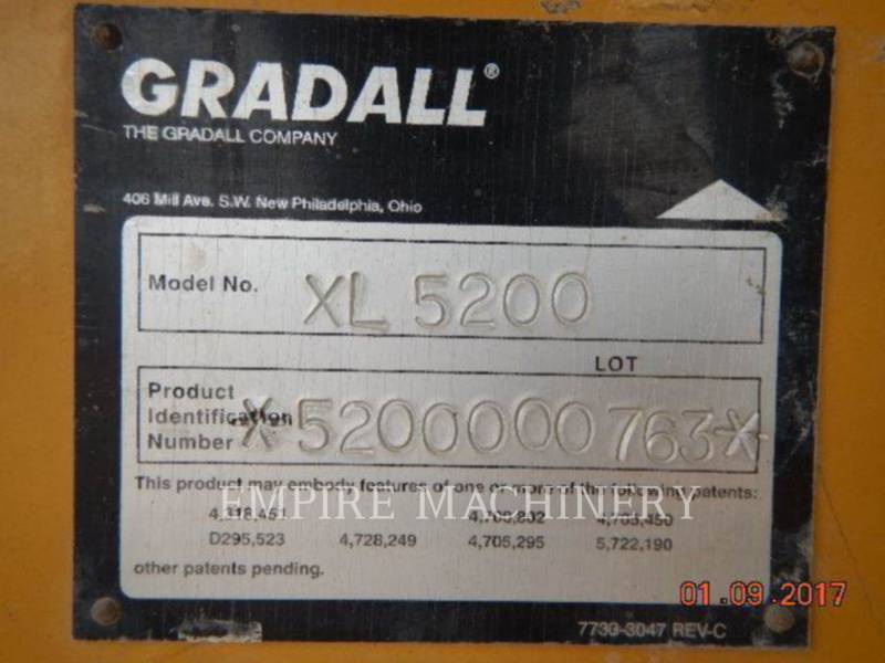 GRADALL COMPANY KOPARKI GĄSIENICOWE XL5200 equipment  photo 14
