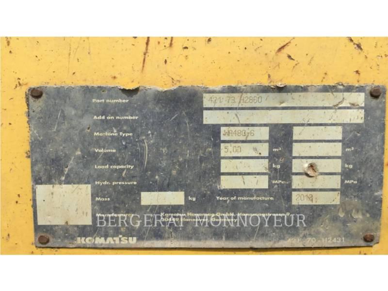 KOMATSU WHEEL LOADERS/INTEGRATED TOOLCARRIERS WA480.6 equipment  photo 14