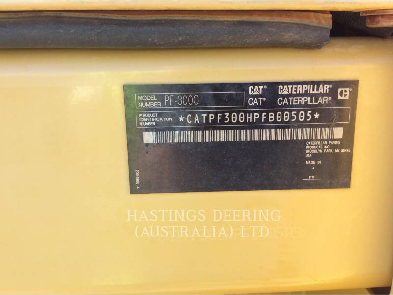 CATERPILLAR PNEUMATIC TIRED COMPACTORS PF-300C equipment  photo 12