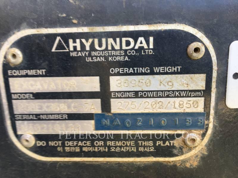 HYUNDAI EXCAVATOARE PE ŞENILE R360LC equipment  photo 12