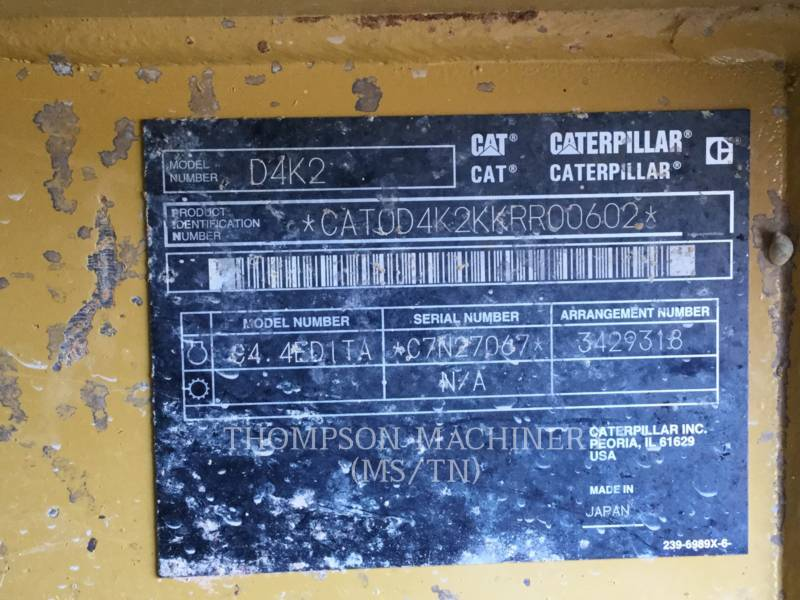 CATERPILLAR TRACK TYPE TRACTORS D4K2 LGP equipment  photo 1