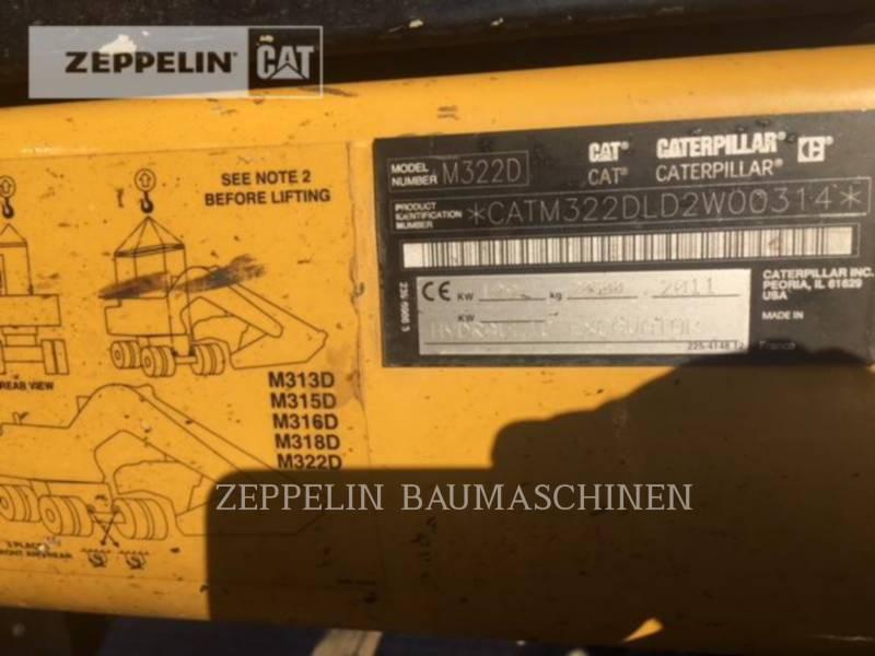 CATERPILLAR КОЛЕСНЫЕ ЭКСКАВАТОРЫ M322D equipment  photo 2