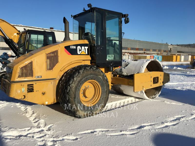 CATERPILLAR EINZELVIBRATIONSWALZE, GLATTBANDAGE CS56 equipment  photo 4