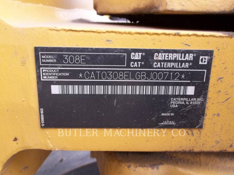 CATERPILLAR TRACK EXCAVATORS 308E CR equipment  photo 8