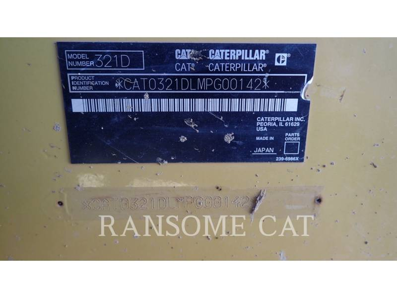 CATERPILLAR TRACK EXCAVATORS 321DLCR equipment  photo 9
