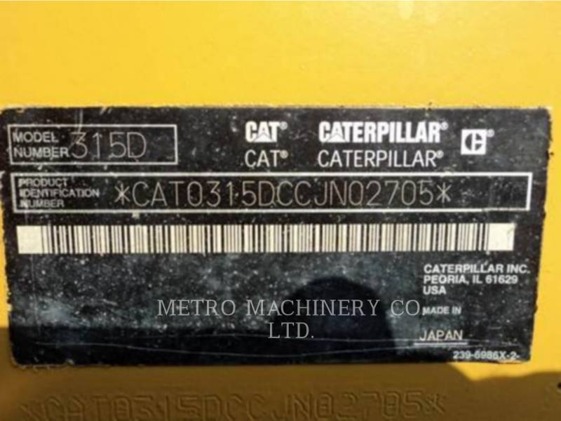 CATERPILLAR ESCAVATORI CINGOLATI 315DL equipment  photo 2