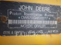 DEERE & CO. MOTOR GRADERS 670G equipment  photo 5